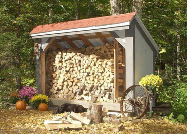 Small Outdoor Firewood