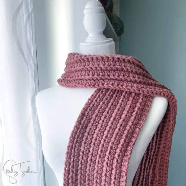 Stonehaven Chunky Crochet Scarf Pattern Free