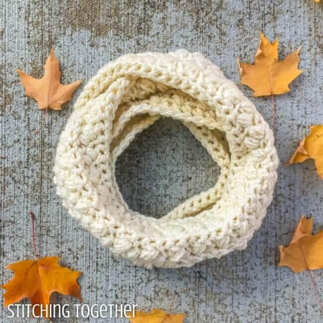 The Selma Chunky Infinity Scarf Crochet Pattern