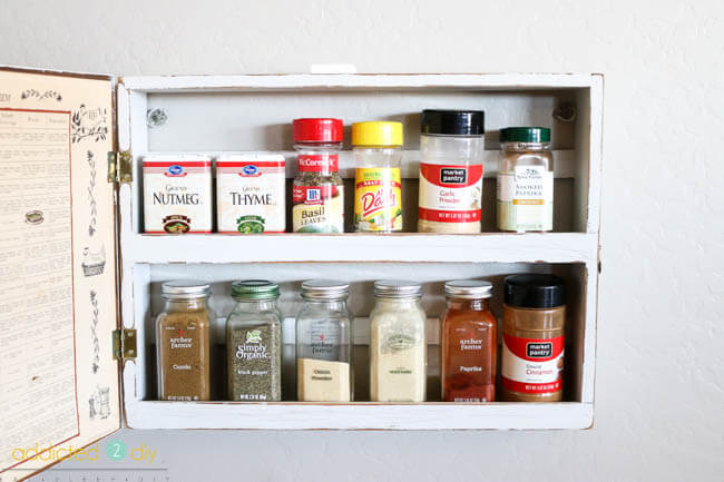 Thrift Store Spice Rack Makeover