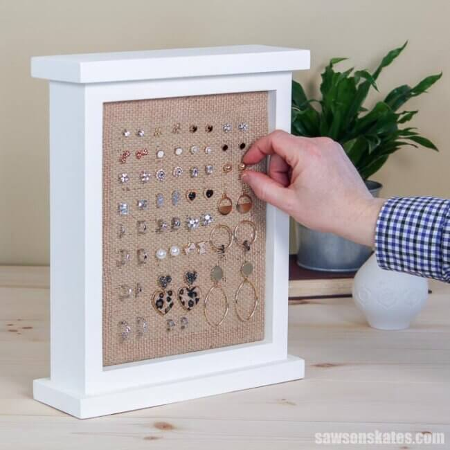 Wood DIY Earring Holder