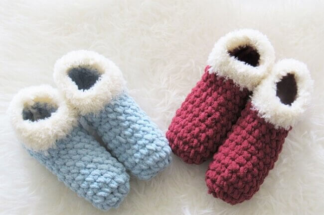 1.5 Hour Slipper, Free Chunky Crochet Slipper Pattern
