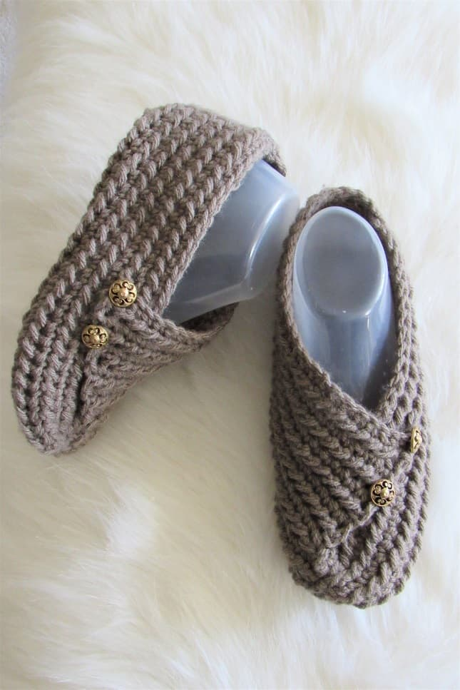 Crochet Slippers Free Pattern with Video, Magic Slippers