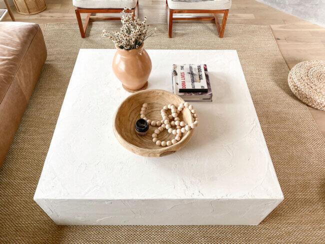 DIY Cement Block Coffee Table