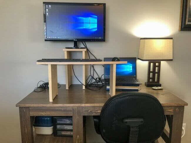 DIY Simple Standing Desk - Keyboard & Monitor Stands