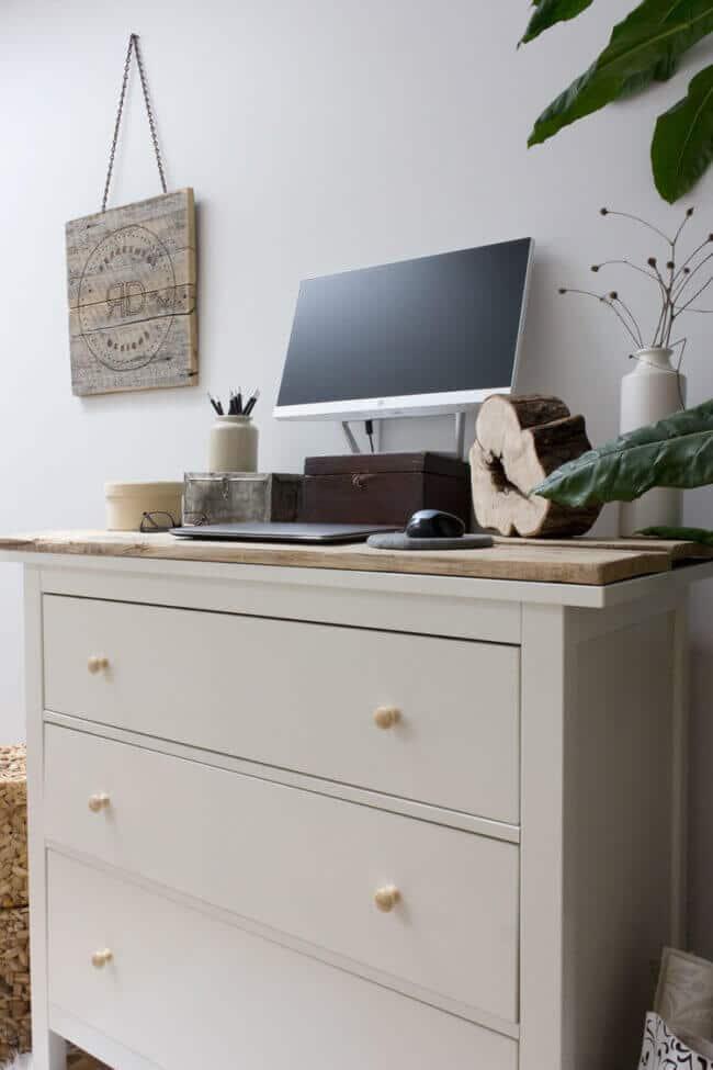 DIY Standing Desk With IKEA Hemnes Dresser