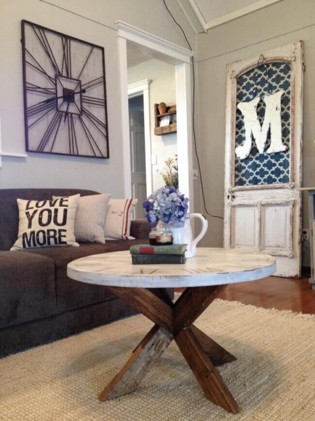 DIY X Base Round Coffee Table