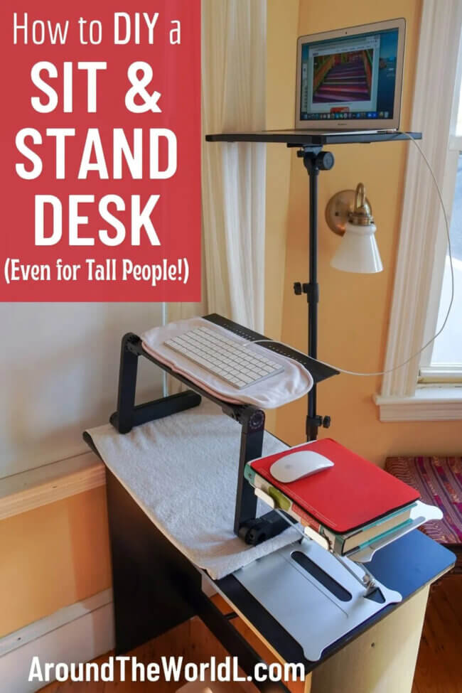 How to DIY a Standing Desk (Tall Person Friendly!)