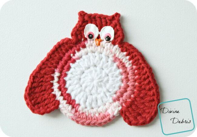 Olga Owls Crochet Coasters