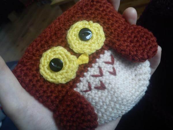 Owl coin purse patern