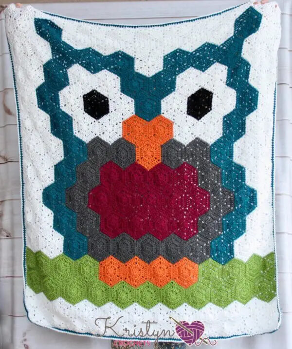 The Night Owl Hexagon Blanket