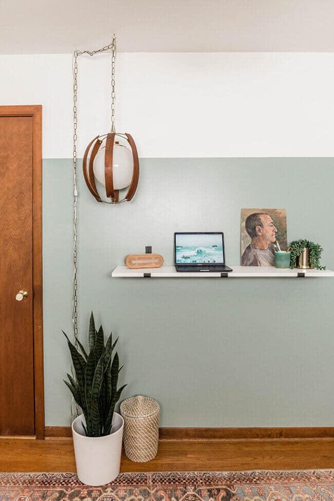 Turn A Shelf Into A Diy Standing Desk