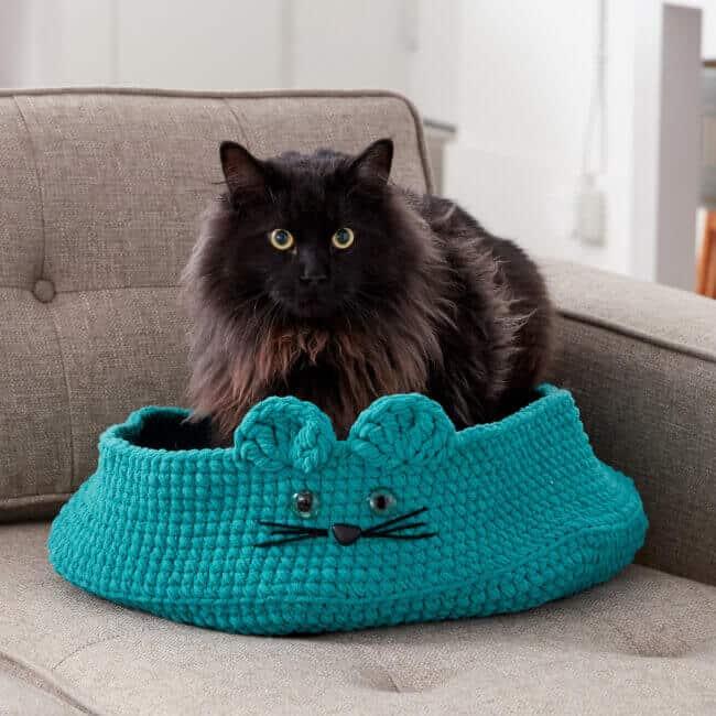 Bernat Kitten Ears Crochet Pet Bed