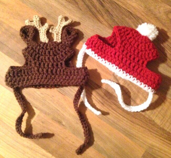 Cat or Small Dog Christmas Beanie Hats