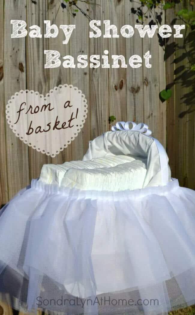 DIY Baby Shower Bassinet Centerpiece