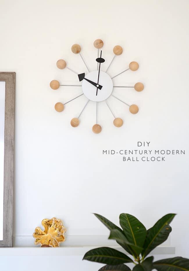 DIY Mid-Century Modern Ball Clock