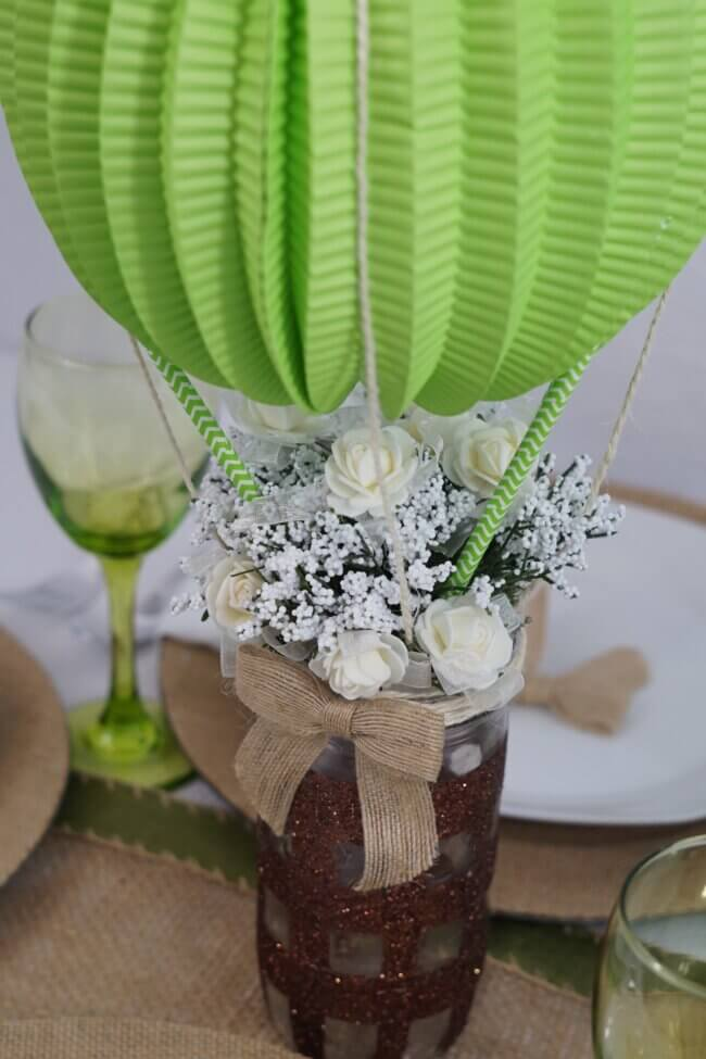 DIY: Up, Up and Away Baby Shower Centerpiece