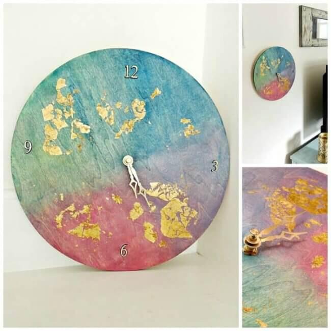 Diy Watercolor Clock