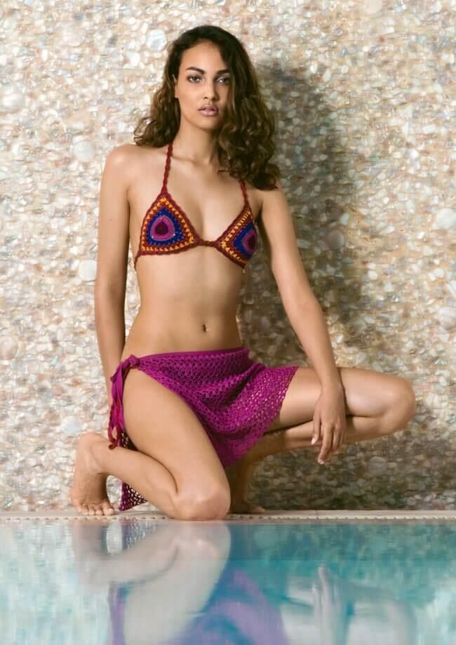 Hot red crochet bikini