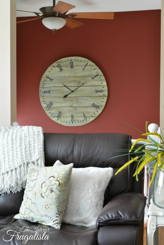 How To Build A Large Rustic Plank Wood Clock