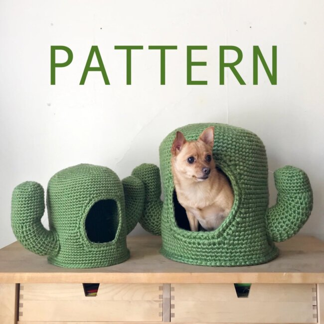 Mini/Mega Cactus Crochet Pet Cave
