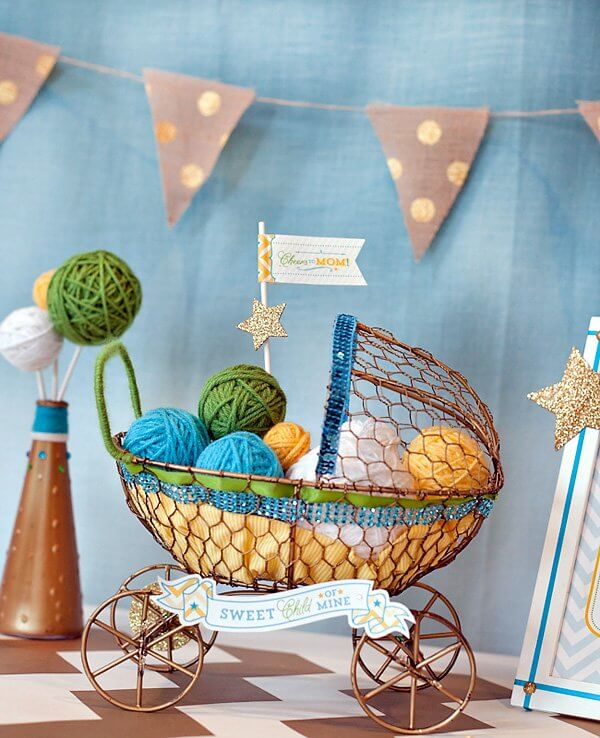 Modern Blessings Baby Shower {Centerpieces & Decor}