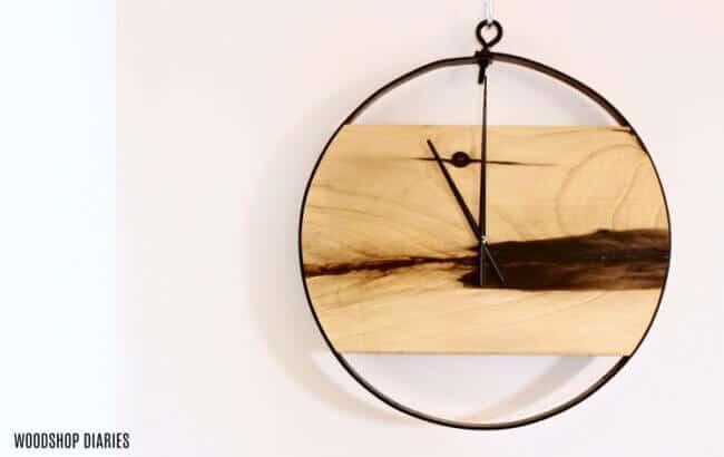 Modern Industrial Diy Wood + Metal Wall Clock