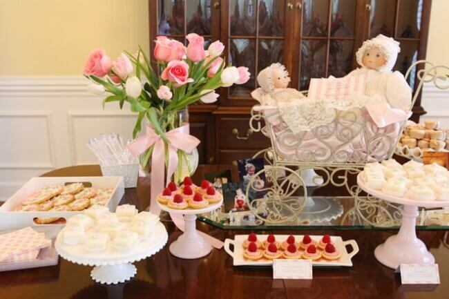 My Baby Shower: Pink, White & Roses