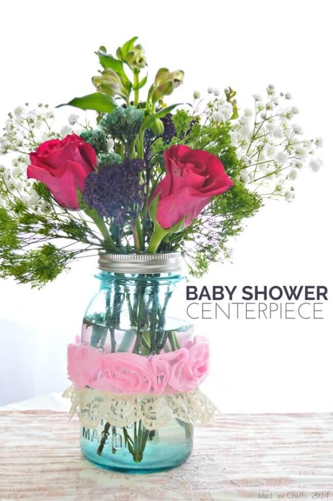 Quick Baby Shower Centerpiece