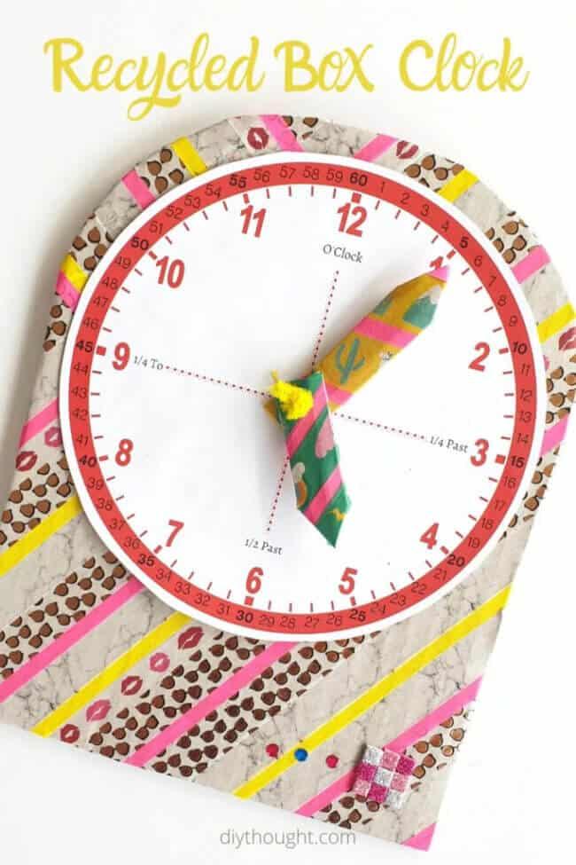 Recycled Box Clock