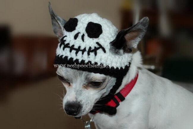 Skull Dog Hat Crochet Pattern