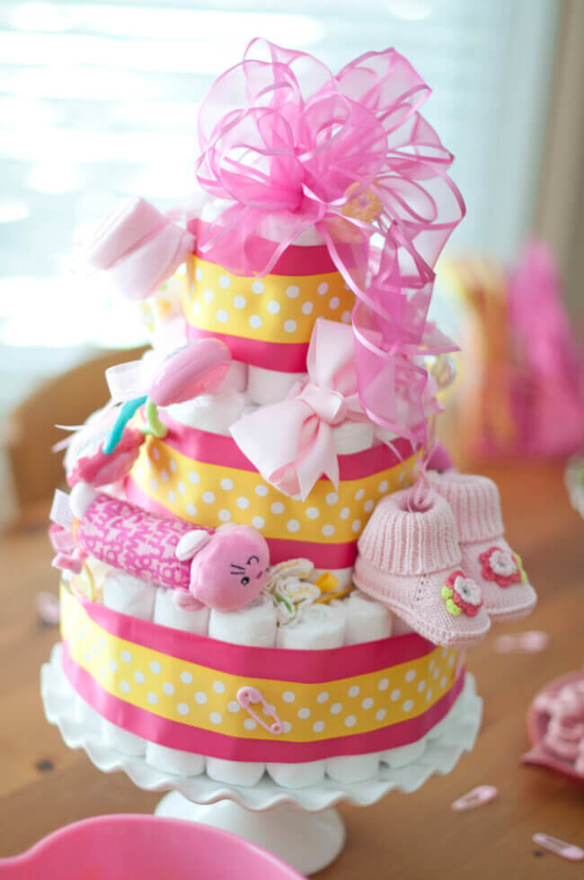 Yellow and Pink Baby Girl Shower