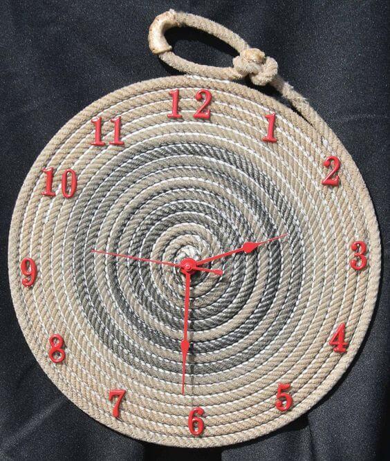 diy rope clock