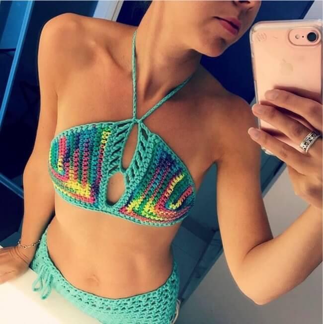 Crochet Bikini Top Crochet Bra