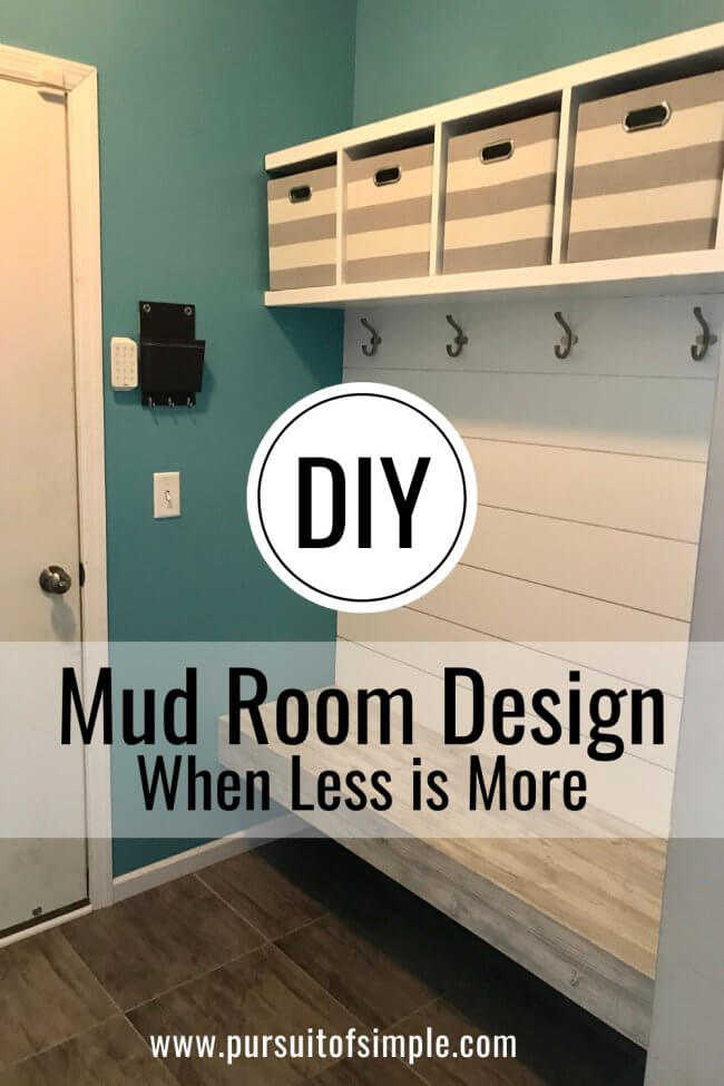 DIY Mud Room Design: When Less is More