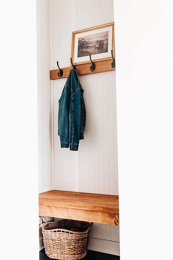 Diy Mudroom Bench (With Beadboard & Coat Hooks)