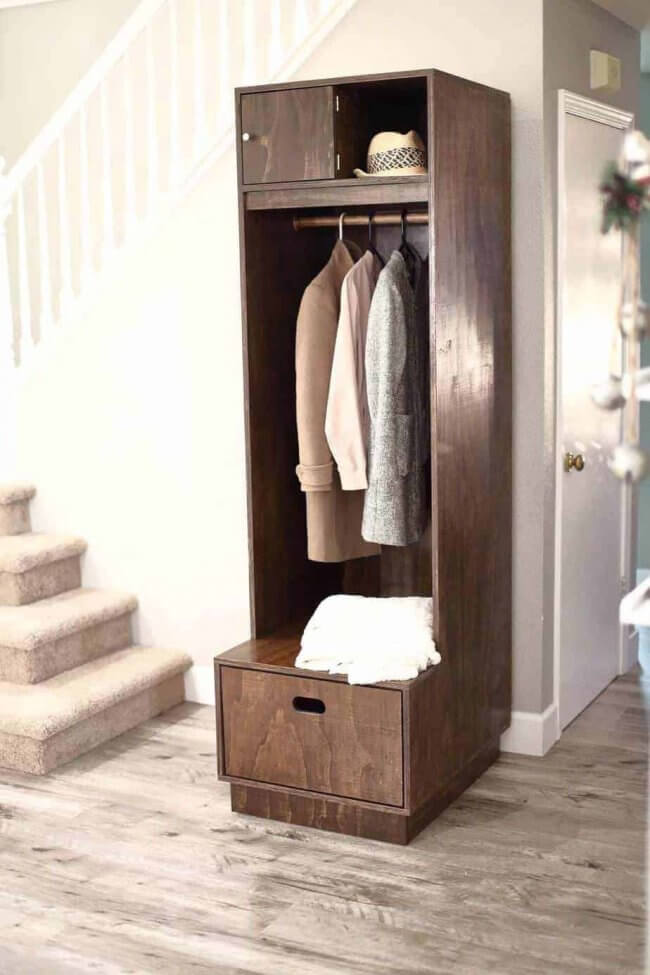 How to Build a DIY Entryway Locker with Storage
