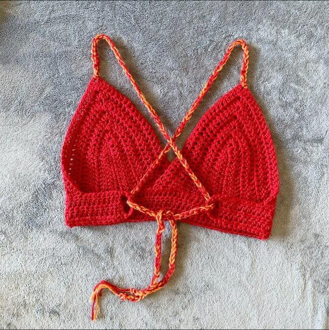 Simplex Bralette crochet pattern cross tie back beginner friendly