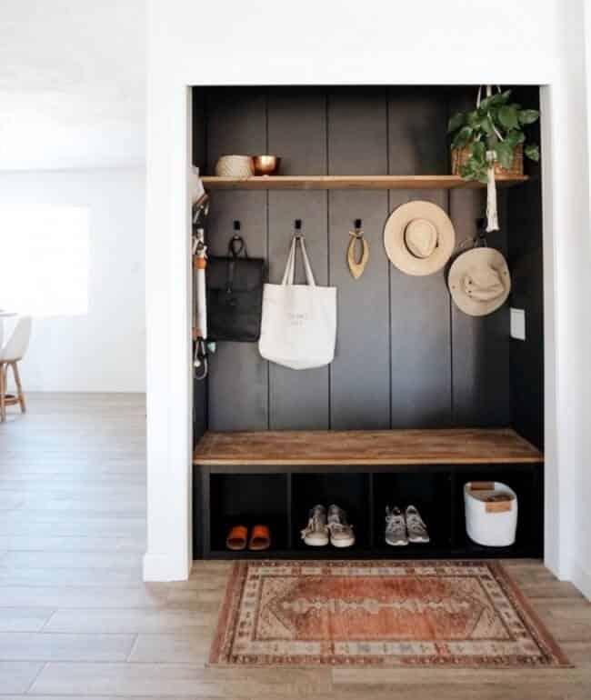 diy mudroom closet transformation