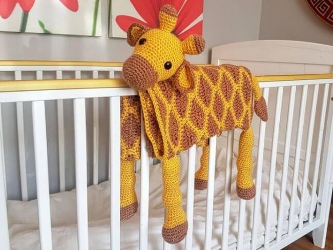 3in1 Giraffe Baby Blanket Crochet Pattern