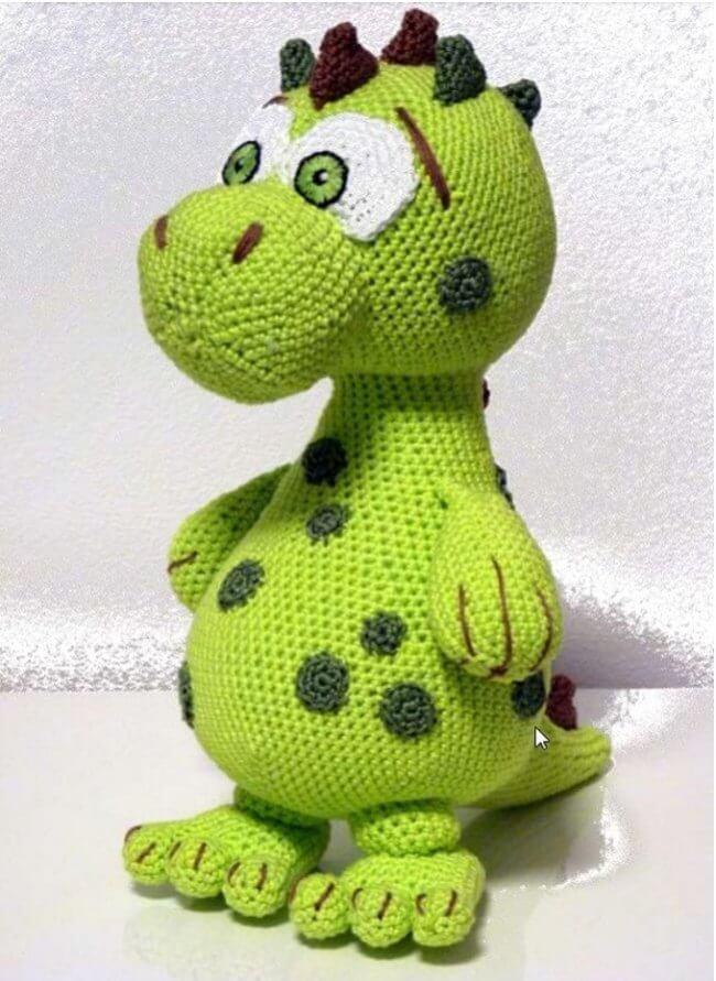 Amigurumi Dragon Dıno Lucky Free Pattern
