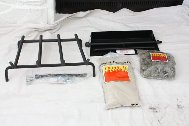 laid out gas burner kit