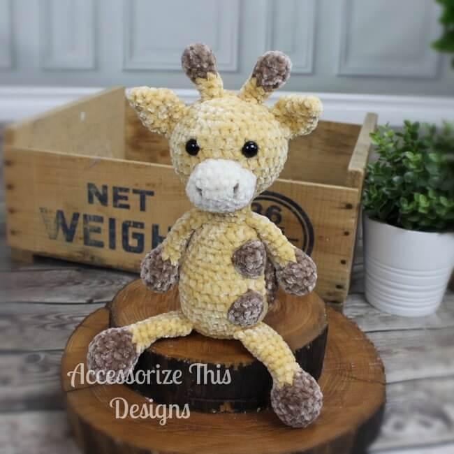 Flip Flop Giraffe Crochet Pattern