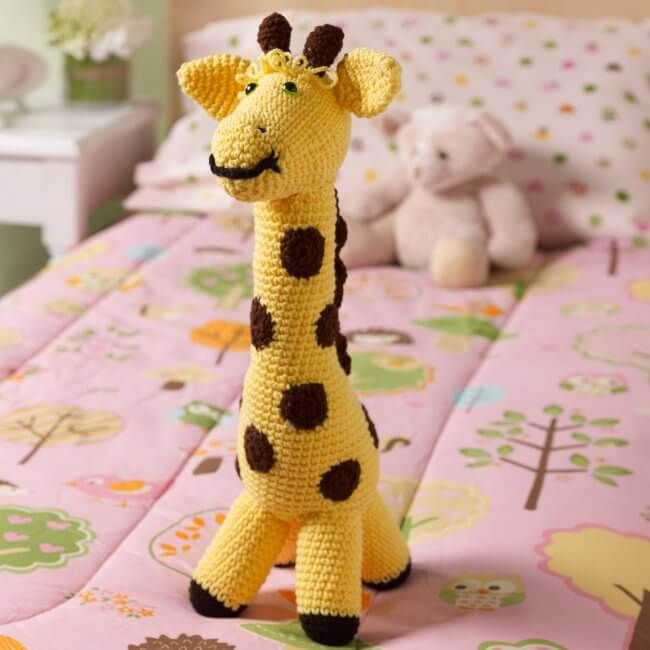 Red Heart Love My Giraffe Toy