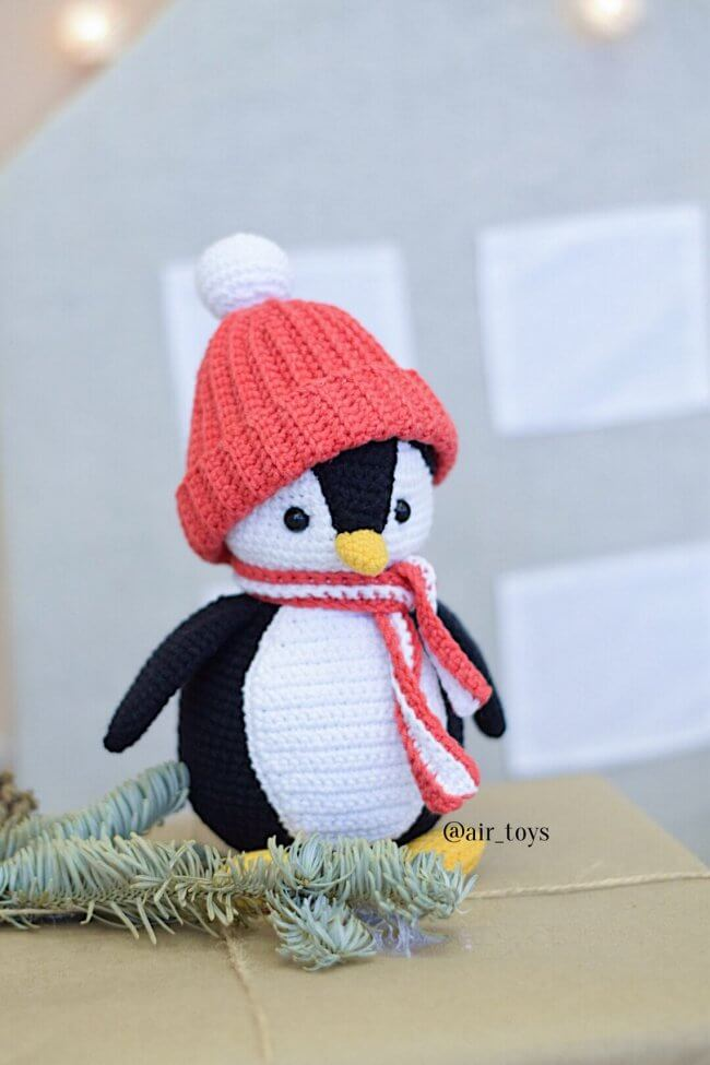 "Amigurumi Crochet PATTERN ""The little penguin Lo lo"