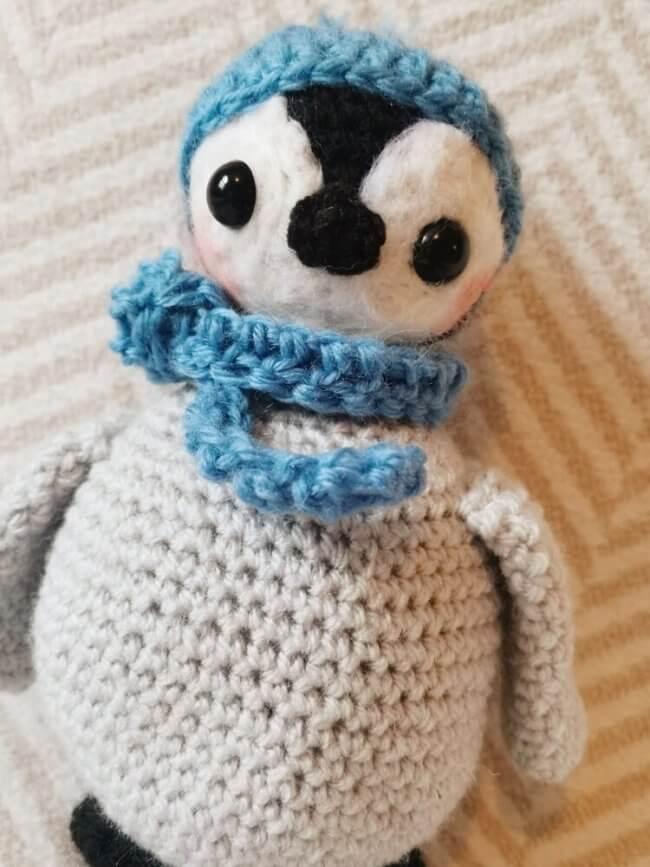 Baby penguin crochet amigurumi pattern