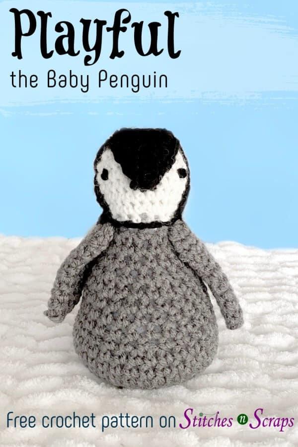 Crochet Penguin Amigurumi – Playful the Baby Penguin