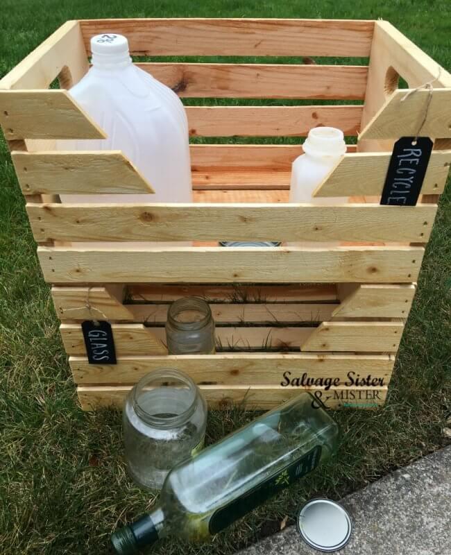DIY Home Recycle Bins