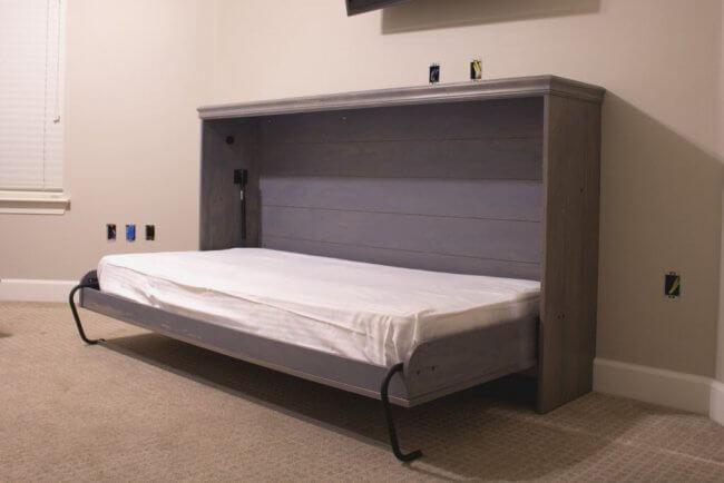 DIY Horizontal Murphy Bed