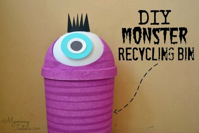 DIY Monster Recycling Containers